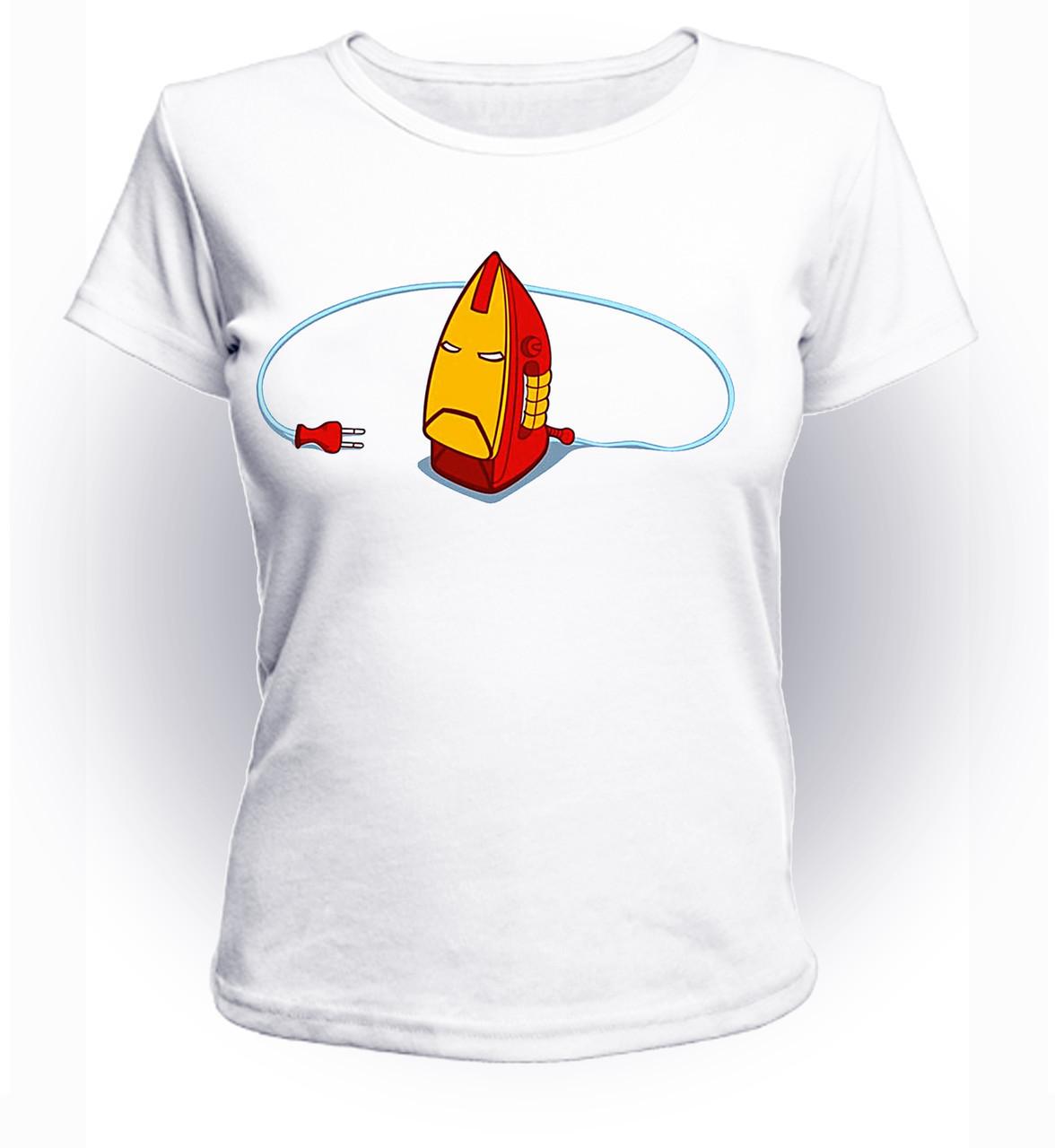 Футболка женская S GeekLand Железный Человек Iron Man утюг art IM.01.042
