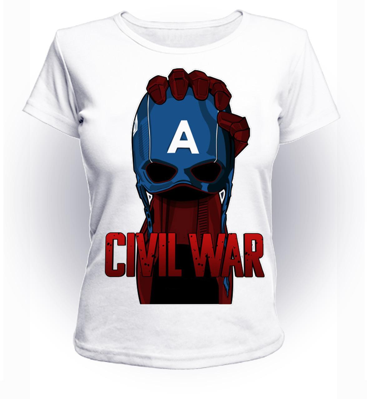 Футболка женская S GeekLand Железный Человек Iron Man Гражданская война art IM.01.055