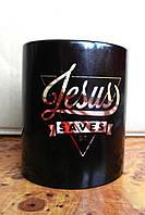 Кружка «Jesus saves»