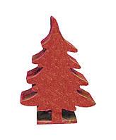 Декоративная игрушка Елка красная 6 см