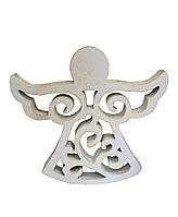 Декоративная игрушка Ангел винтаж белый 10 см