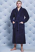 Халат мужской махровый темно-синий