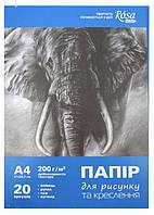 Папка для рисунку та черчения, ROSA Studio, А4 (21х29,7 см), 200г/м2, 20л.