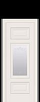 "Межкомнатные двери ""ШАРМ"" со стеклом сатин, молдингом и рисунком"