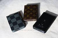 Магнитные кожаные зажимы для денег брендовые Louis Vuitton, Cartier