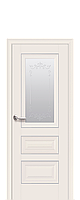 """Межкомнатные двери """"СТАТУС"""" со стеклом сатин, молдингом и рисунком, фото 1"""