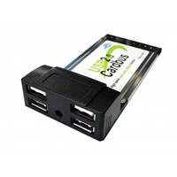 Адаптер USB 2.0 CardBus PCMCIA card 4 USB 2.0 ports