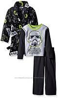 Флисовый набор размер 2Т EUR 80 86 92 Star Wars пижама реглан и штаны халат