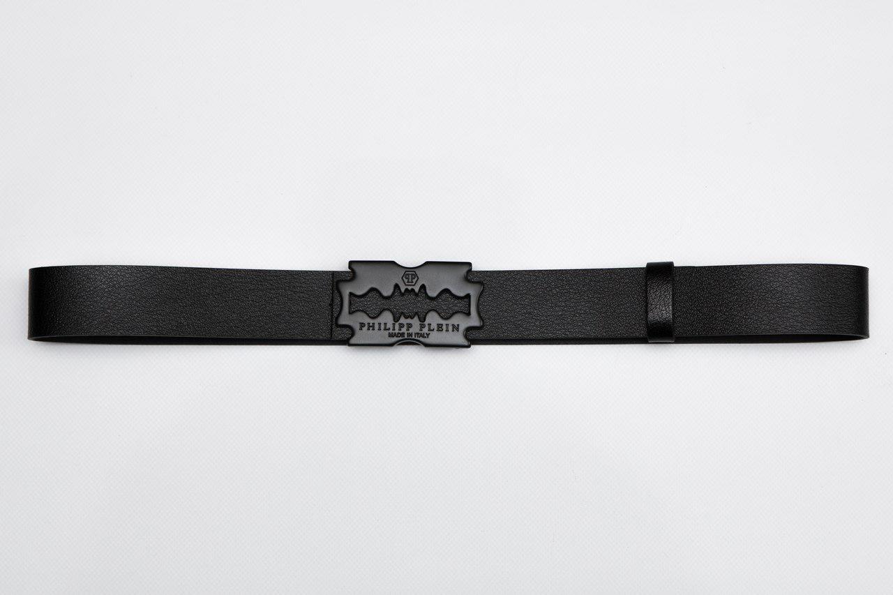 Мужской/женский кожаный ремень лезвие, Филипп Плейн (Philipp Plein)