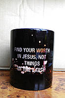 Кружка «Find your worth in Jesus»