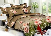 Комплект постельного белья ТМ TAG 1,5-спальный, постельное белье полуторка PS-BL133