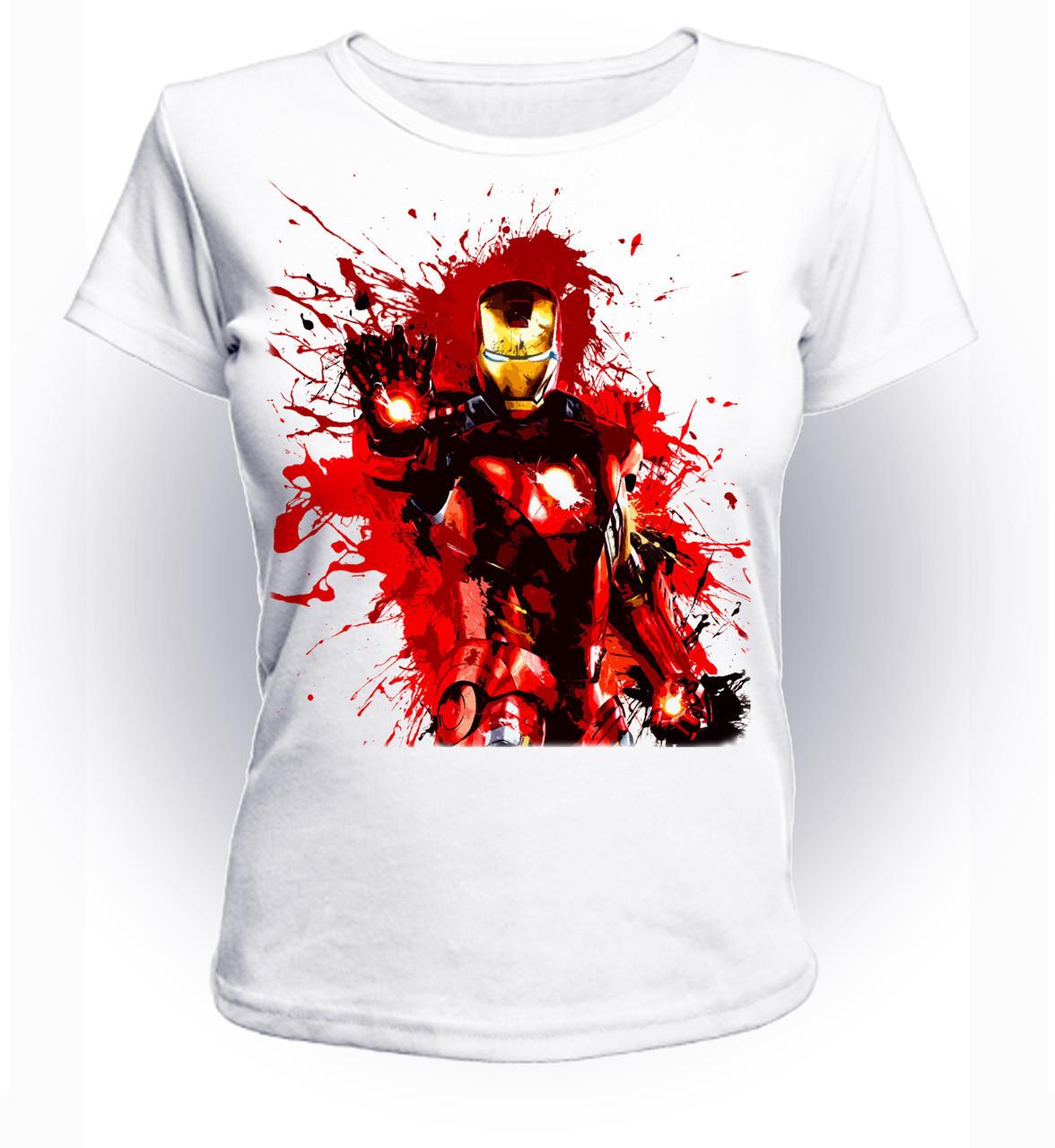 Футболка женская размер L GeekLand Железный Человек Iron Man клякса Art IM.01.015