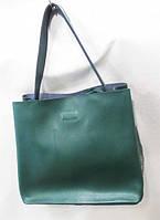 Женская кожаная сумка зеленого цвета. Модель  есть  в других цветах