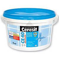 CE 40 aquastatic затирка 2-5мм. 2кг. голубой