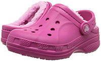 Crocs EUR 32 33 34 теплые с мехом Кроксы стелька 20, 8 21, 5 см