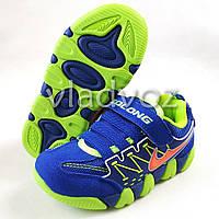 Детские кроссовки для мальчика замш синие 28р.
