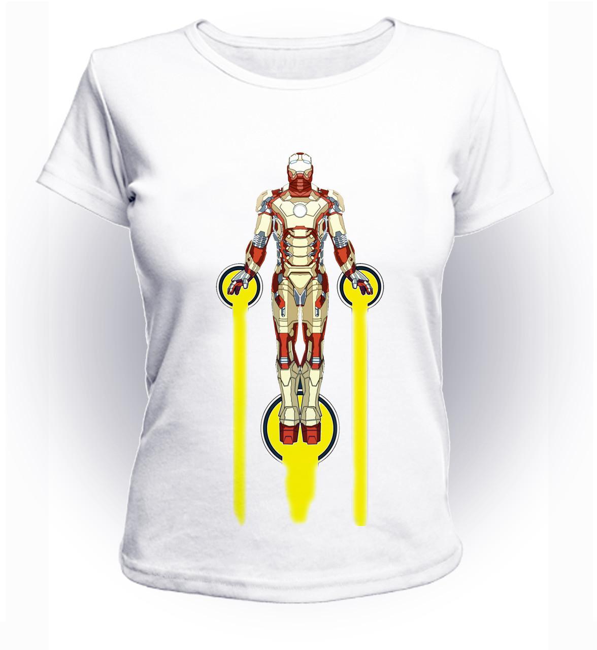 Футболка женская GeekLand Железный Человек Iron Man fly Art IM.01.007