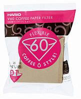 Бежевые фильтры Hario для пуровера V60 01 (100 шт)(крафтовые), фото 1