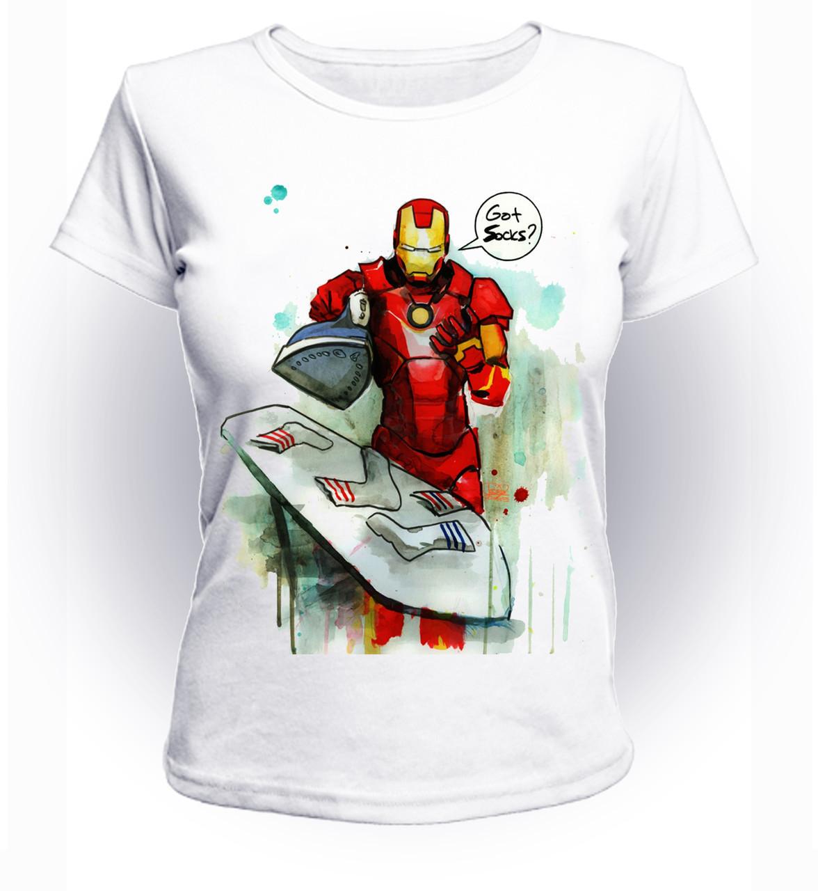 Футболка женская GeekLand Железный Человек Iron Man socks art IM.01.032