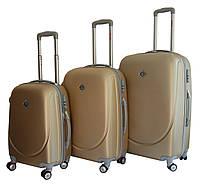 Набор чемоданов Bonro Smile с двойными колесами шампан (110070)