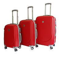 Набор чемоданов Bonro Smile с двойными колесами красный (110069)