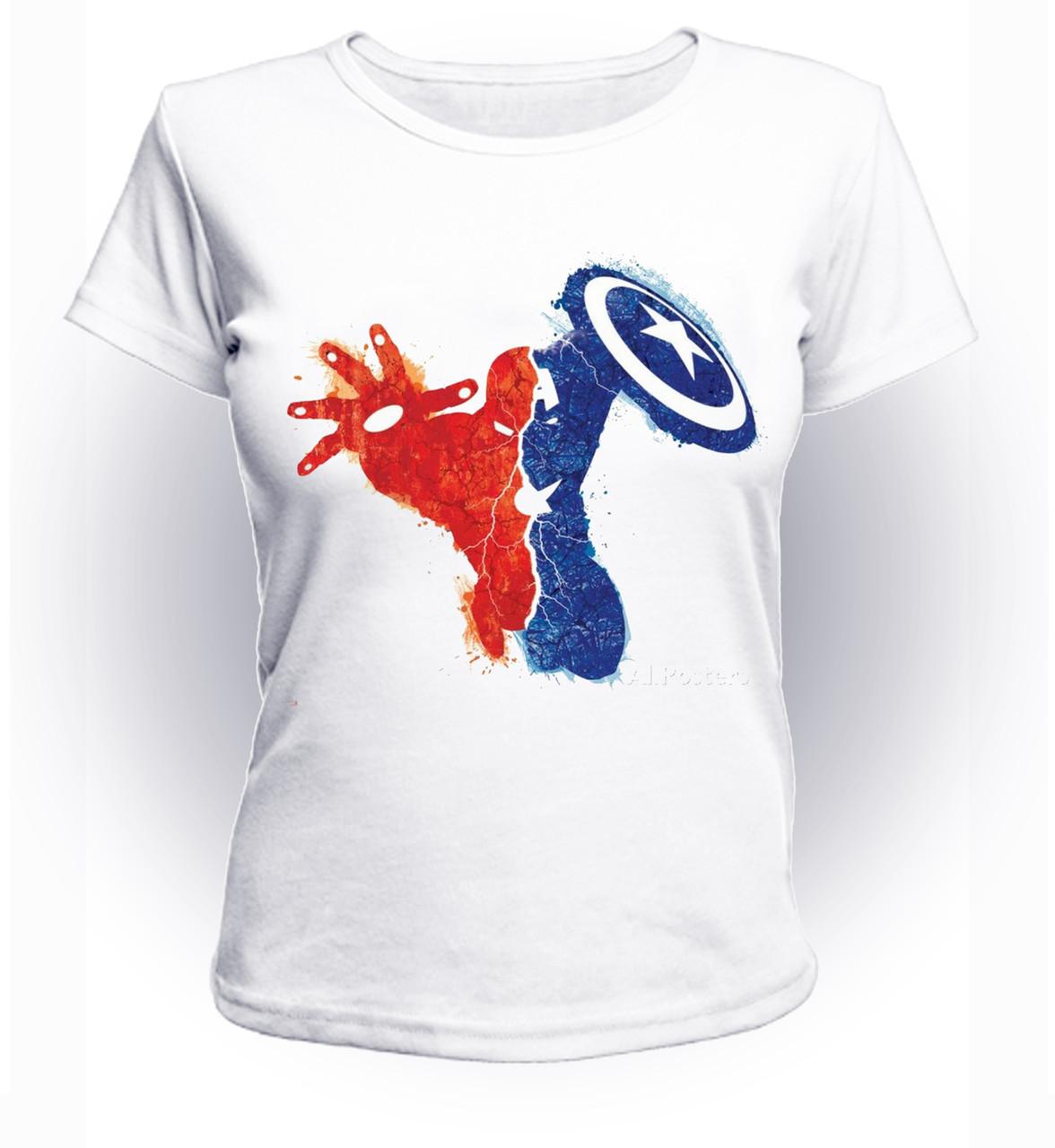 Футболка женская GeekLand Железный Человек Iron Man Раскол art IM.01.060