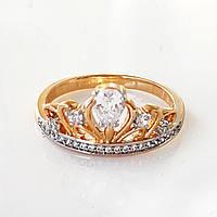 Кольцо корона  xuping 19р. позолота 18К+родий  148304