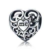"Шарм Pandora Style (стиль Пандора)  ""Сердце YOU & ME """