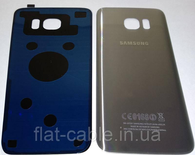 Крышка задняя Samsung G935F Galaxy S7 EDGE Серебристый Оригинал