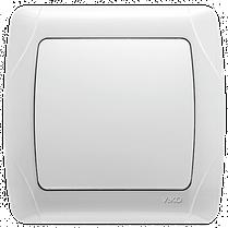 Вимикач CARMEN 1-й білий. Код УКТ ЗЕД 8536508000