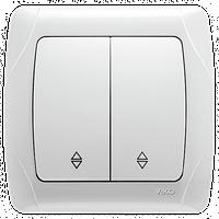 Выключатель CARMEN 2-й проход. бел. Код УКТ ЗЕД 8536508000