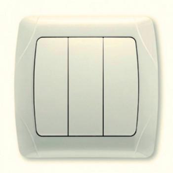 Выключатель CARMEN 3-й крем. Код УКТ ЗЕД 8536508000