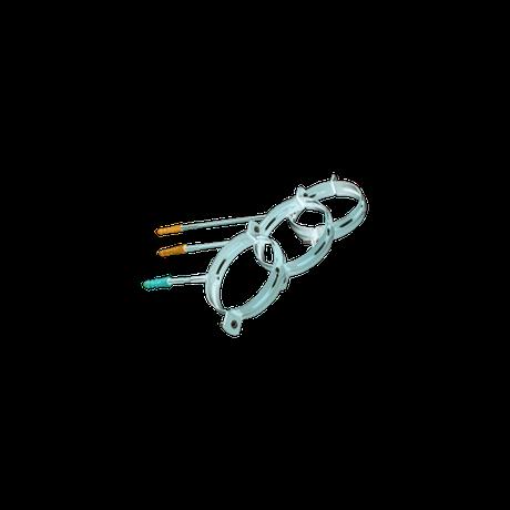 Держак труби метал. Profil L=100 130 білий