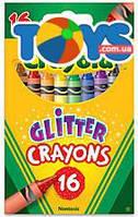 16 восковых мелков с блестками  Crayola (176562), 52-3716