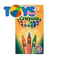 8 разноцветных стандартных восковых мелков, Crayola (176572), 8