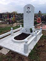 Памятник из белого камня №10