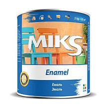 "Емаль алкідна ""Miks"" коричнева 2,8кг."