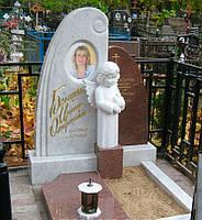 Памятник из мрамора и гранита  с ангелочком №20