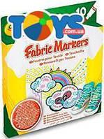 10 фломастеров для рисования по ткани, 58-8633