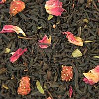 Черный чай Земляника со сливками 500 грамм