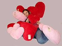 Мягкий плюшевый подарок Подушка сердце 75 см