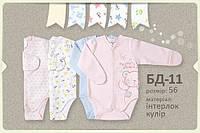 Боди для новорожденного, интерлок. БД 11