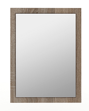 ДЗеркало на стіну з ДСП/МДФ у вітальню спальню Martina W дуб сонома трюфель+білий Blonski