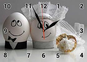 """Часы настенные стеклянные Т-Ок 002 """"Оригинальный сувенир"""" SG-2503502 с приколами"""