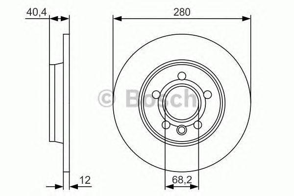 Тормозной диск Bosch, фото 2