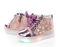 Модные ботиночки для девочки с подсветкой(р21-25)