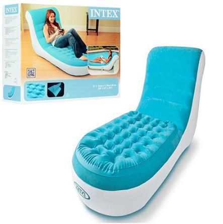 Надувное кресло-шезлонг Intex 68880 велюр