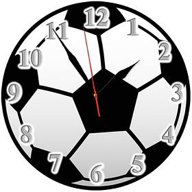 """Часы настенные стеклянные Т-Ок 004 """"Футбольный мяч"""" SD-2501"""
