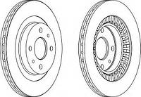 Тормозной диск Ferodo Lada 2110-2112 R14