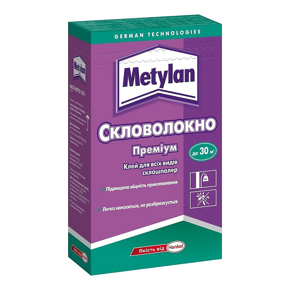 Клей для шпалер METYLAN Скловолокно 500г.